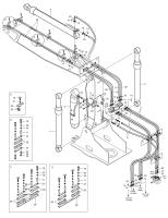 SOLAR 220LC-V  Boom Cylinder(r.h.) Arti.boom 440-00095 #2(1683*340*285)