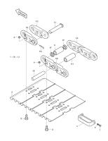 SOLAR 225LC-V  Link Track(rh) 2272-6104R #1A