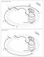 DX140W/DX160W  Lubricator Piping 400-01489C Assembly