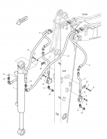 DX55W  Arm Piping K1029264E Assembly