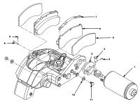 MT36-41  Brake,parking MX508175 Assembly(600*470*280)
