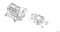 Timing gear housing (front cover with oil pump)