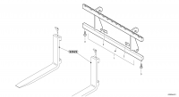 Fork lift attachment support
