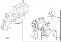 Gear box housing with fitting parts