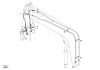 Working hydraulic, hammer and shear for boom