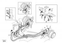 Turning joint line, turning joint to travel motor