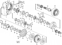 Transfer case, gears and shafts