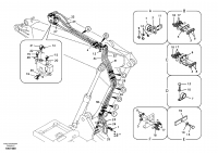 Working hydraulic, dipper arm rupture for adjustable boom