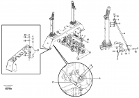 Forward/reverse/auxilary control lever