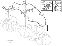 Brake pipe with fitting parts