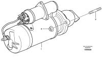 Starter motor with assembling details 8280231, 8280232