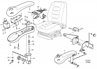CDC - steering. Arm rest with fitting parts. 80266