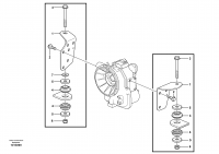 Gear box housing with fitting parts 11891209, 11891255