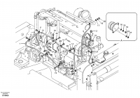 Cable harness, engine