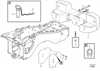 Rear hitch and counterweight STD, OPEN ROPS, IRN