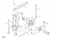 Hydraulic system, oil cooler mount