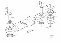 Hydraulic cylinder with fitting parts
