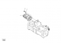Hydraulic system, oil cooling pump mount