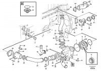 Water pump and thermostat housing