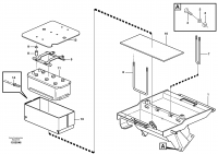 Battery box with fitting parts