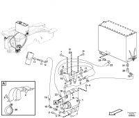 Secondary steering system. 84617