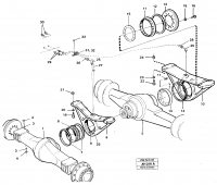 Planet axles with fitting parts