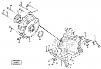 Engine support and flywheel housing