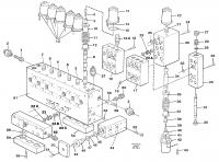 Main valve assembly, valves