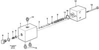 Pressure reducing valve, oscillating system